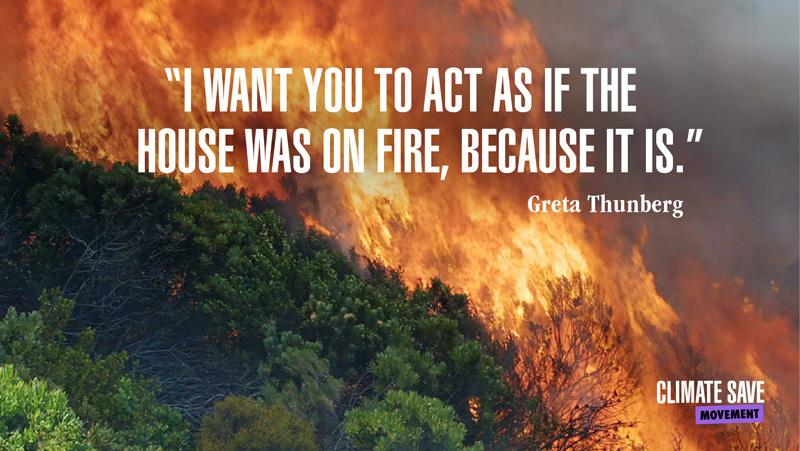 Greta - house on fire