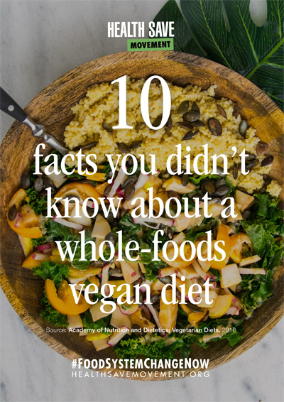 10 facts about a whole-food vegan diet