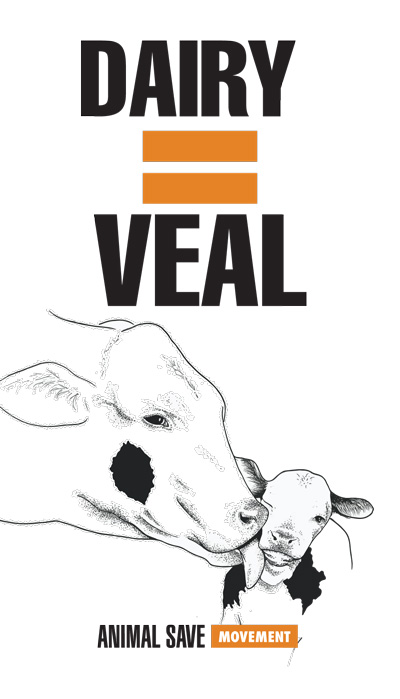 Dairy=Veal Animal Save sticker