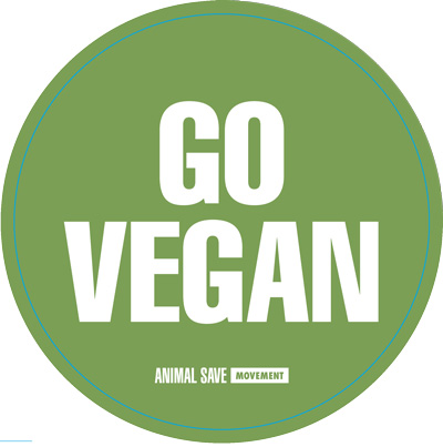 Go Vegan Animal Save Movement sticket