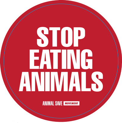 Stop Eating Animals Animal Save Movement sticker
