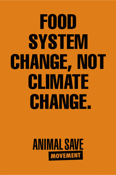 Food system change not climate change