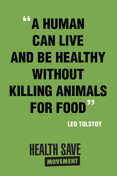 A human can be healthy without killing aninals