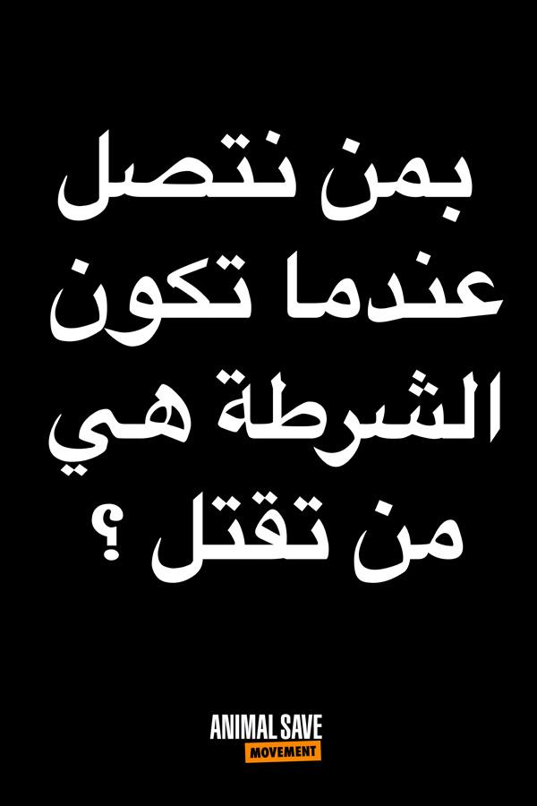 Arabic BLM placard 1