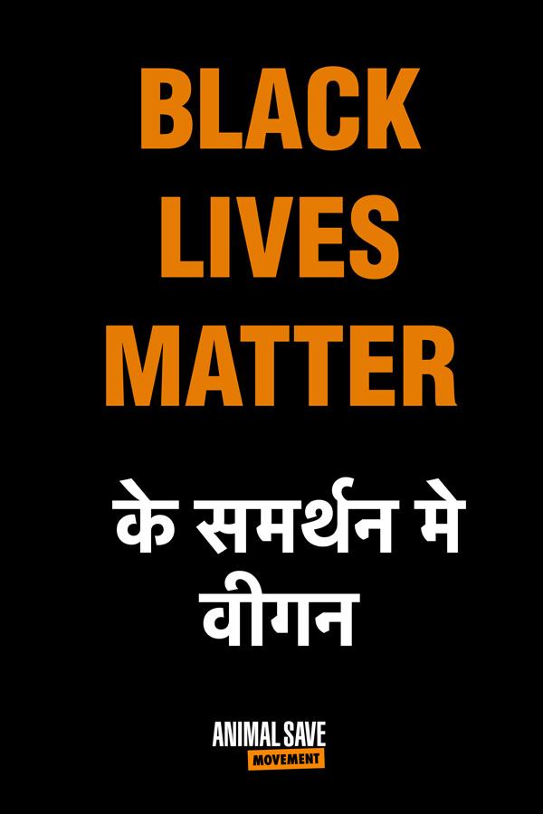 BLM Hindi placard 2