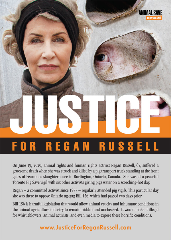 Justice for Regan flyer front