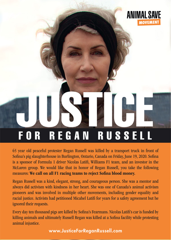 Justice for Regan Russell flyer 1