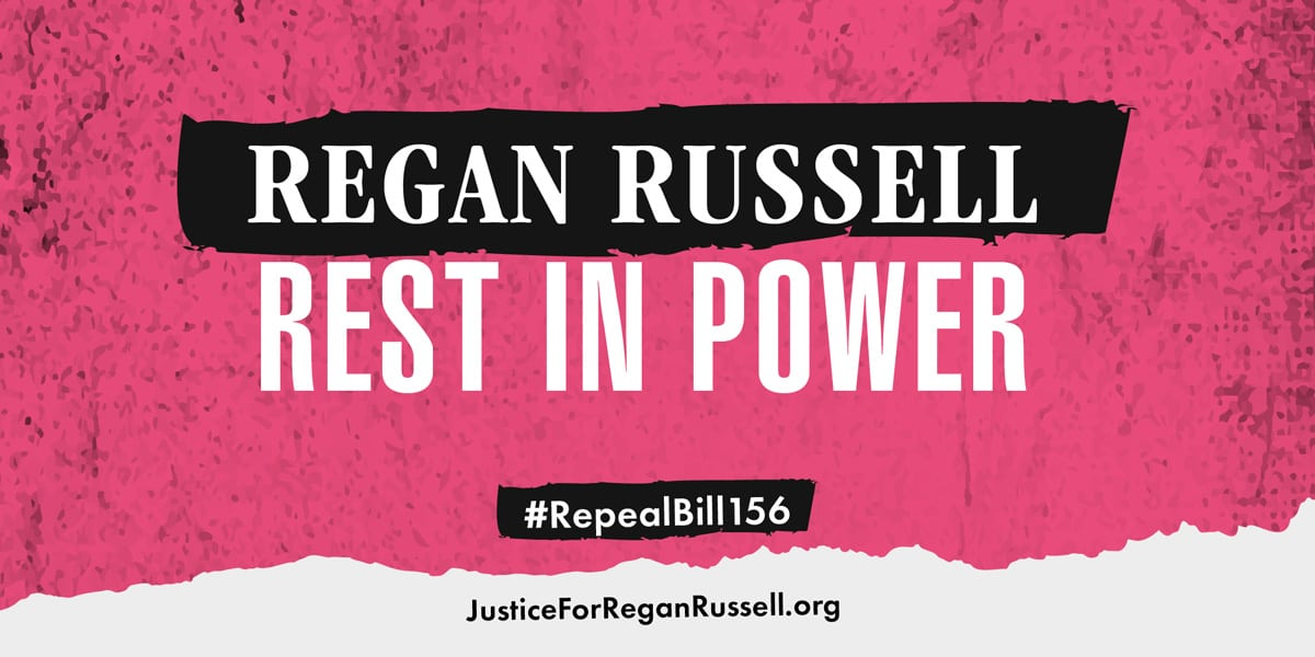 Justice for Regan Russell Twitter image 4