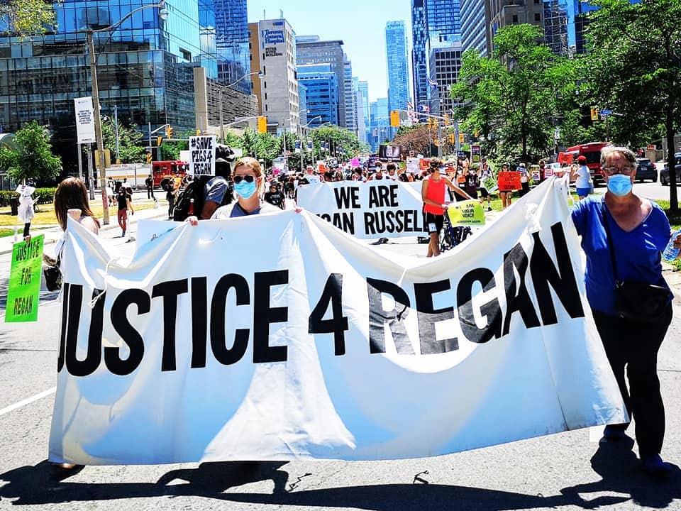Justice 4 Regan Russell march